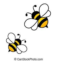 Honey bees isolated