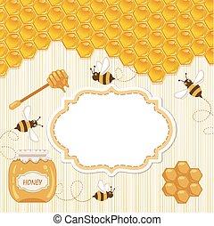 Honey template background.