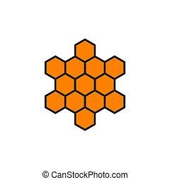 Honeycomb logo design icon vector template
