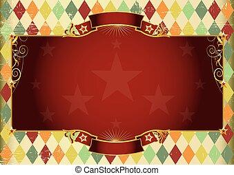Horizontal rhombus vintage background