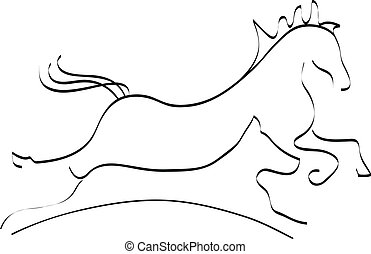 Horse and dog silhouette logo