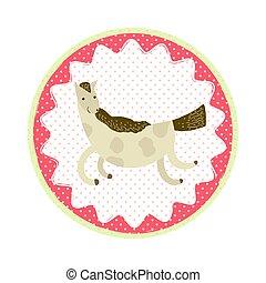Horse badge emblem