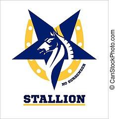 horse. horse mascot. Stallion.