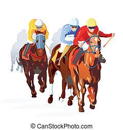 Horse Race Finish