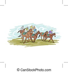 Horse racing, sketch for your design