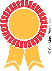 Horse rosette ribbons in two colors