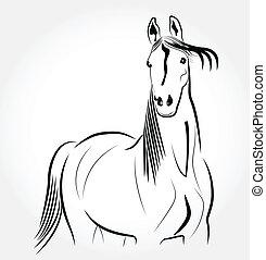Horse stylized portrait logo