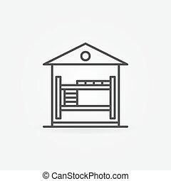 Hostel linear icon