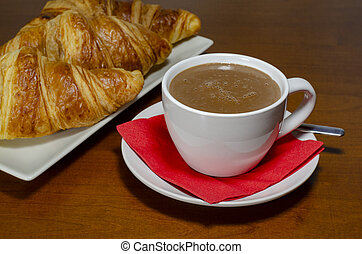 Hot Chocolate with croissant