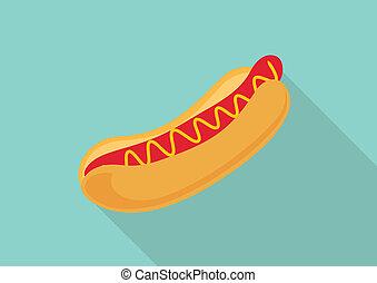 Hot dog flat design.