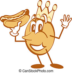 Hotdog Cartoon Mascot Clip Art