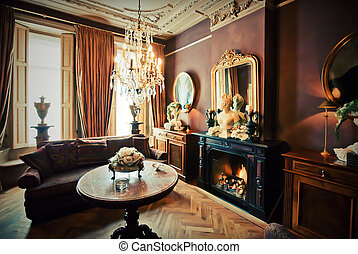 luxury hotel-lounge room in classic style