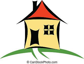 A vector house cartoon illustration
