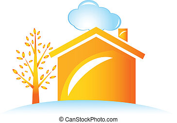 House and tree logo