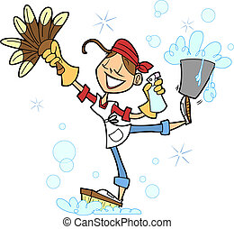 This lovely lady is a pro at getting things cleaned around the house, and she is ready to represent any lady who loves to keep her house clean, or a professional house cleaner as well.