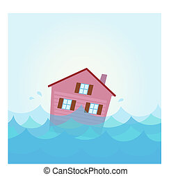 House flooding under water