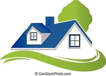 House with tree logo