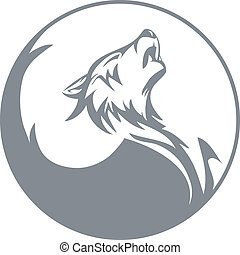 Stylized wolf graphics vector