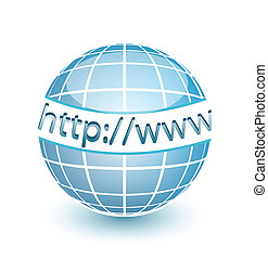 HTTP WWW internet web globe with lines