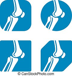 human knee joint icons