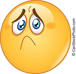Hurt and sad emoticon