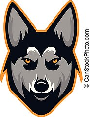 Husky Dog Head Team Mascot Logo