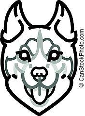 Husky head vector symbol on white background