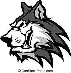Husky Mascot Vector Graphic
