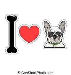 I love bulldog hipster with collar