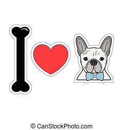 I love french bulldog hipster 1