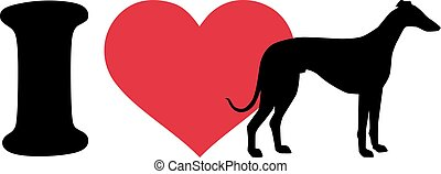I love Greyhounds icon