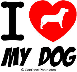 I Love My Dog With Red Heart