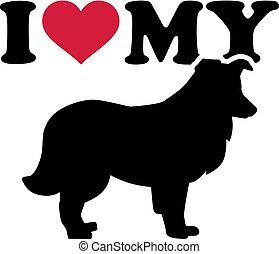 I love my Shetland Sheepdog silhouette