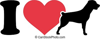 I love Rottweiler icon