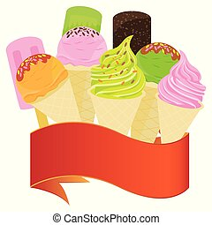 ice cream on white background vector design