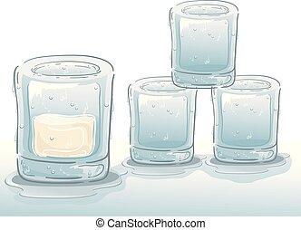 Ice Glass Illustration