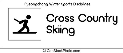 Icon depicting Cross Country Skiing discipline of winter sports games in Pyeongchang