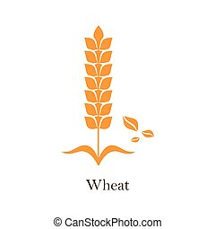 Icon design, vector on white background. Agriculture wheat logo