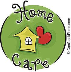 Icon Illustration Representing Home Care