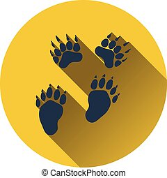 Icon of bear trails