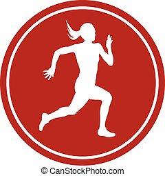icon running sprint female