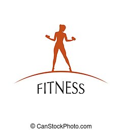 icon Sports Club - label fitness club vector