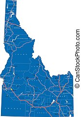 Idaho state political map