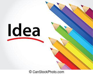 idea Multicolored pencils