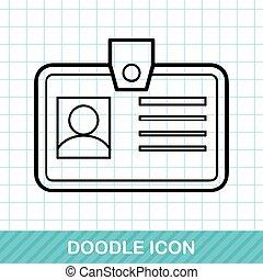 Identification card doodle
