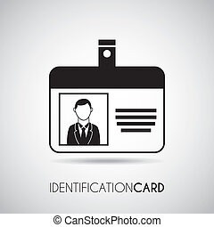 identification card over gray background vector illustration