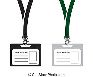 identification card with lanyard