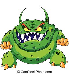 illustration of a angry green monster