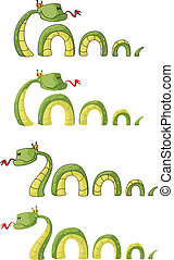 illustration of a big smile snake