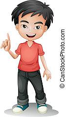 illustration of a boy on a white background